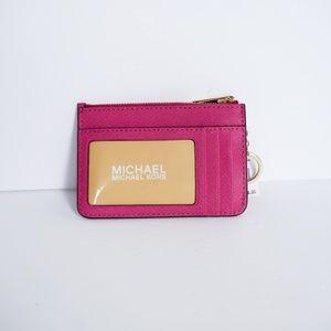 Michael Kors Bags - Michael Kors Jet Set S Coin Pouch Wallet Fuschia